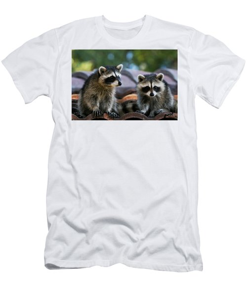 Racoons On The Roof Men's T-Shirt (Athletic Fit)