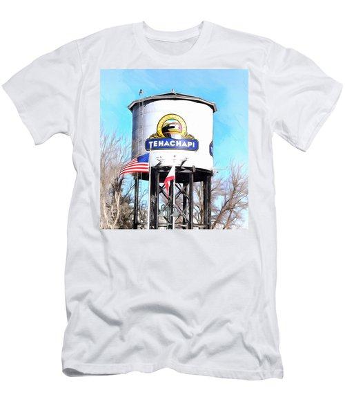 Men's T-Shirt (Slim Fit) featuring the photograph Railroad Park Tehachapi California Detail by Floyd Snyder