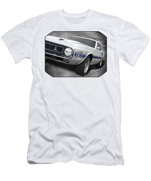 Rain Won't Spoil My Fun - 1969 Shelby Gt500 Mustang Men's T-Shirt (Slim Fit) by Gill Billington