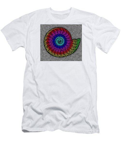 Rainbow Ammonite Men's T-Shirt (Athletic Fit)
