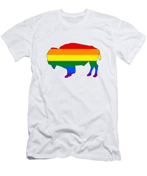 Rainbow Bison Men's T-Shirt (Athletic Fit)