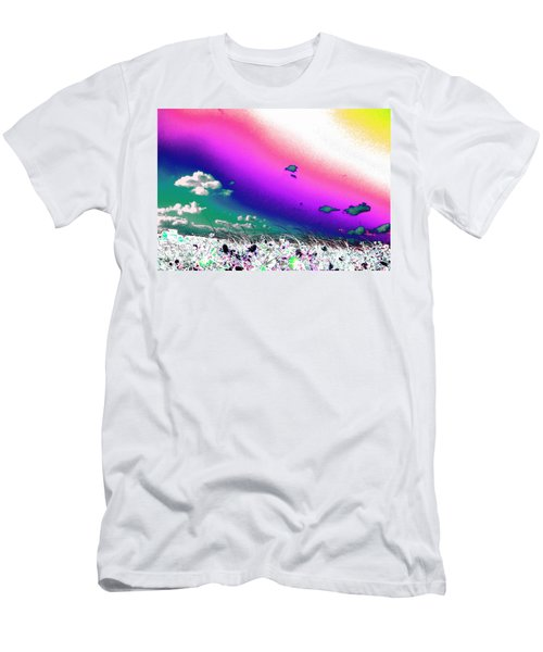 Rainbow Borealis Men's T-Shirt (Athletic Fit)
