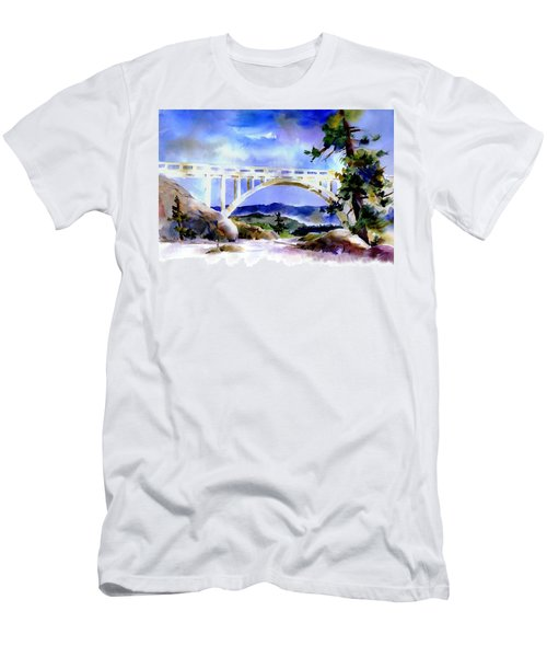 Rainbow Bridge Above Donnerlk#2 Men's T-Shirt (Athletic Fit)