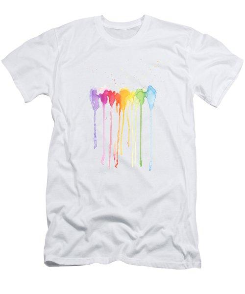 Rainbow Color Men's T-Shirt (Athletic Fit)