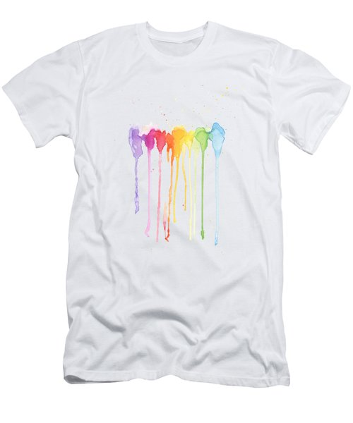 Rainbow Color Men's T-Shirt (Athletic Fit)