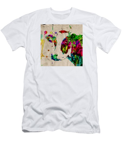 Rainbow Cow Print Poster Men's T-Shirt (Athletic Fit)