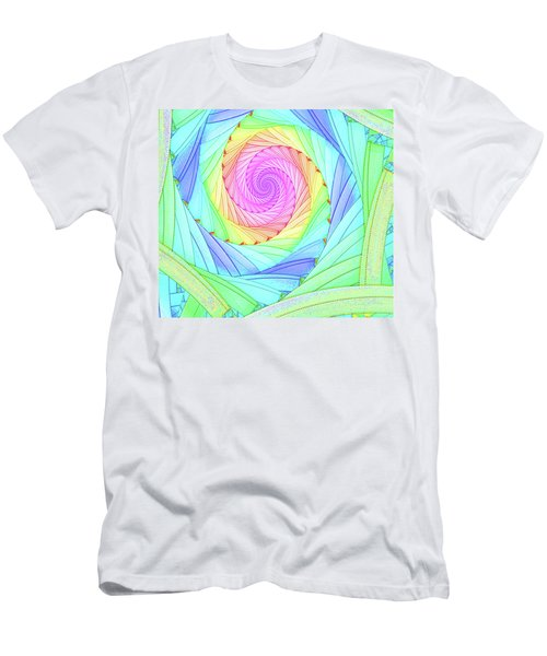 Rainbow Spiral Men's T-Shirt (Athletic Fit)