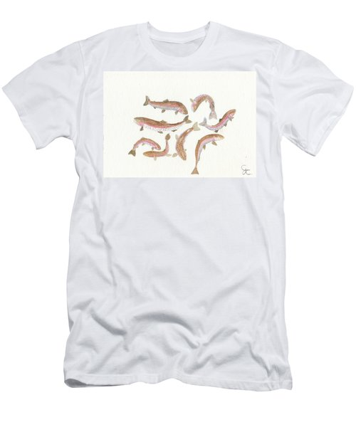 Rainbow Trout Men's T-Shirt (Slim Fit) by Gareth Coombs