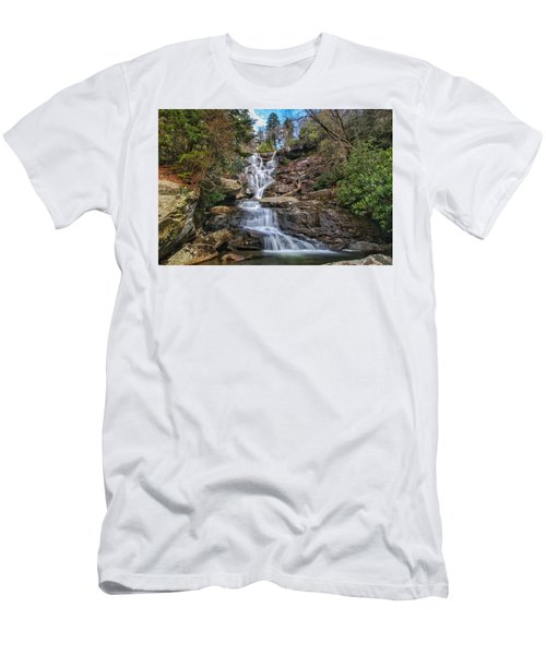 Ramsey Cascades - Tennessee Waterfall Men's T-Shirt (Athletic Fit)