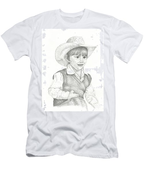 Men's T-Shirt (Slim Fit) featuring the drawing Ranch Hand by Mayhem Mediums