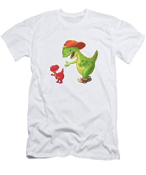 Rap-rap Raptor Men's T-Shirt (Athletic Fit)