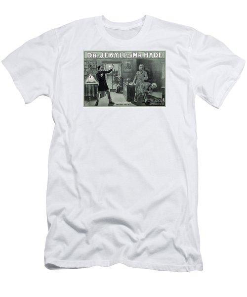 Rare Dr. Jekyll And Mr. Hyde Transformation Poster Men's T-Shirt (Slim Fit) by Carsten Reisinger