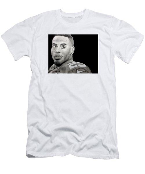 Rashad Jennings Drawing Men's T-Shirt (Slim Fit) by Angelee Borrero