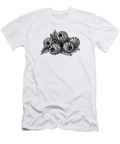 Raspberries Image Men's T-Shirt (Slim Fit) by Irina Sztukowski