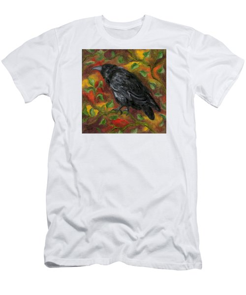 Raven In Autumn Men's T-Shirt (Athletic Fit)
