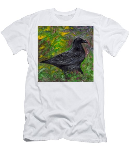Raven In Goldenrod Men's T-Shirt (Athletic Fit)