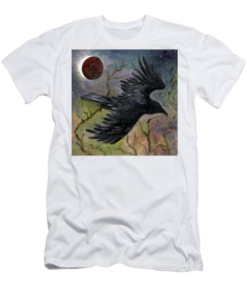 Raven In Twilight Men's T-Shirt (Athletic Fit)