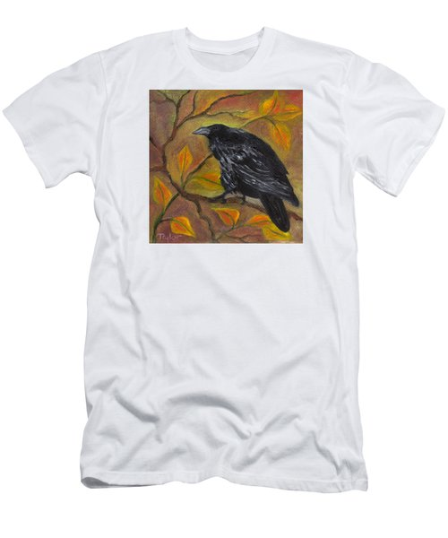 Raven On A Limb Men's T-Shirt (Slim Fit) by FT McKinstry