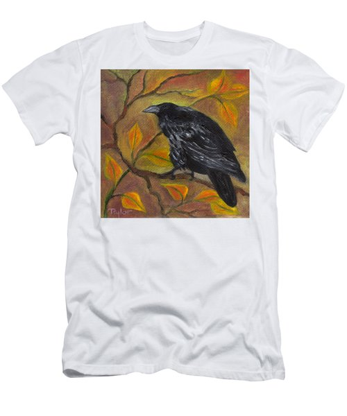 Raven On A Limb Men's T-Shirt (Athletic Fit)