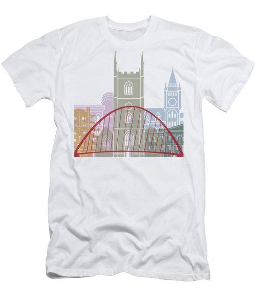 Reading Skyline Poster Men's T-Shirt (Athletic Fit)