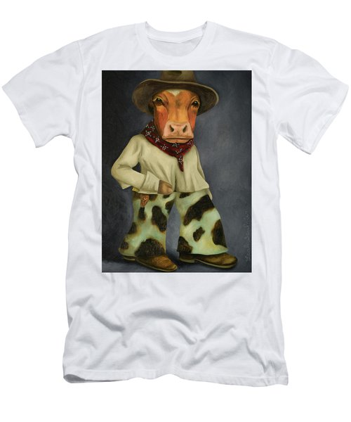 Real Cowboy 2 Men's T-Shirt (Slim Fit) by Leah Saulnier The Painting Maniac