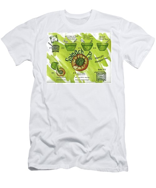 Men's T-Shirt (Athletic Fit) featuring the painting Recipe-spinach Pie by Diane Fujimoto