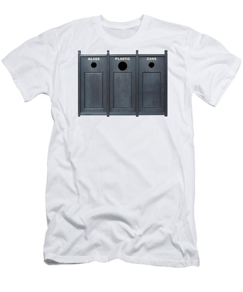 Recycle Bins For Glass Plastic Cans Men's T-Shirt (Athletic Fit)