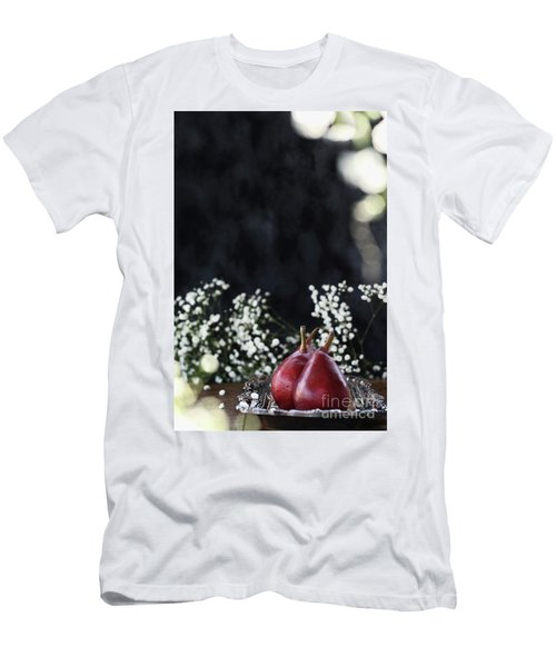 Men's T-Shirt (Slim Fit) featuring the photograph Red Anjou Pears by Stephanie Frey