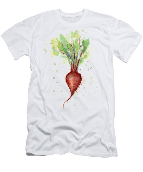 Red Beet Watercolor Men's T-Shirt (Athletic Fit)