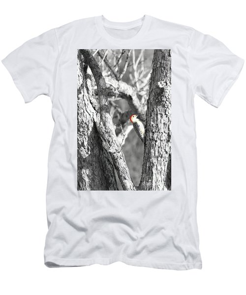Men's T-Shirt (Slim Fit) featuring the photograph Red-bellied Woodpecker by Benanne Stiens