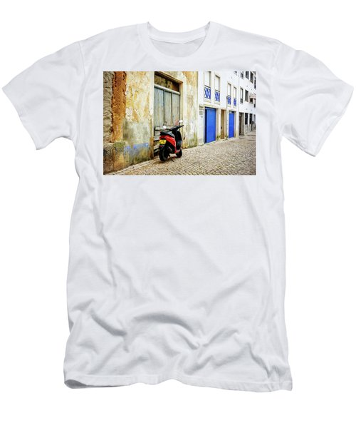 Men's T-Shirt (Slim Fit) featuring the photograph Red Bike by Marion McCristall