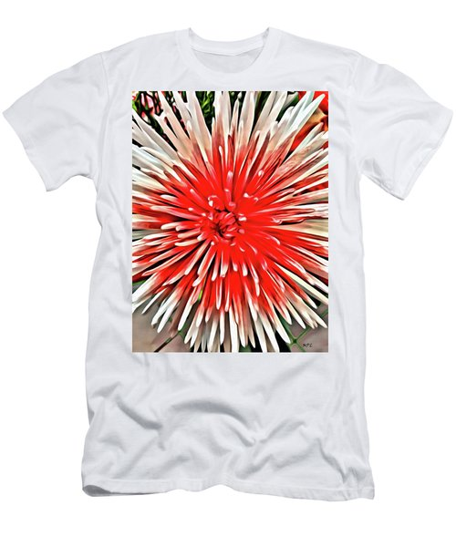Red Burst Men's T-Shirt (Athletic Fit)