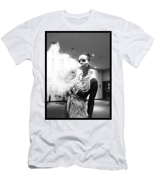 Men's T-Shirt (Slim Fit) featuring the photograph Red Carpet Vapeing  by Lisa Piper
