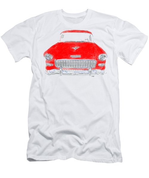 Red Chevy T-shirt Men's T-Shirt (Athletic Fit)