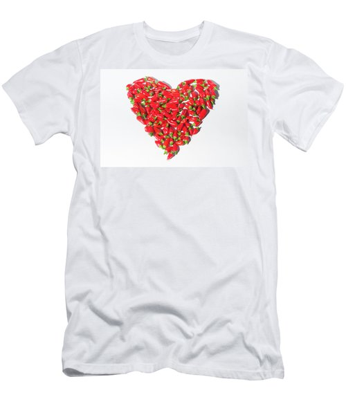 Red Chillie Heart II Men's T-Shirt (Athletic Fit)