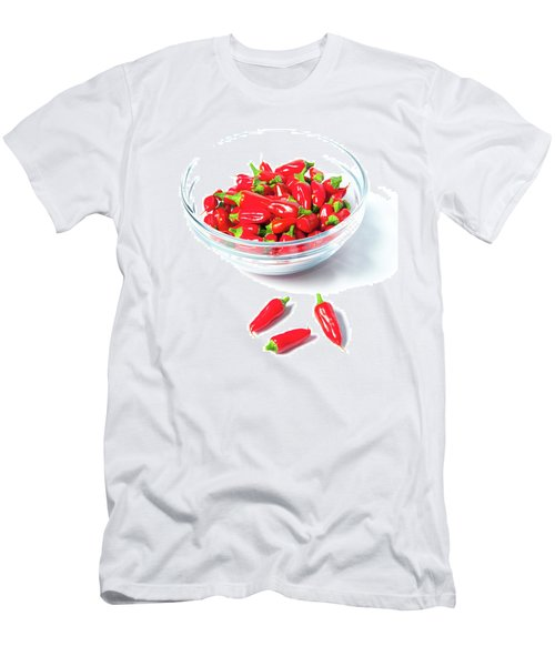 Red Chillies In A Bowl II Men's T-Shirt (Athletic Fit)