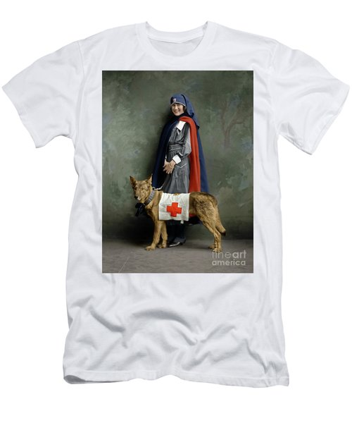 Men's T-Shirt (Athletic Fit) featuring the photograph Red Cross Nurse by Granger