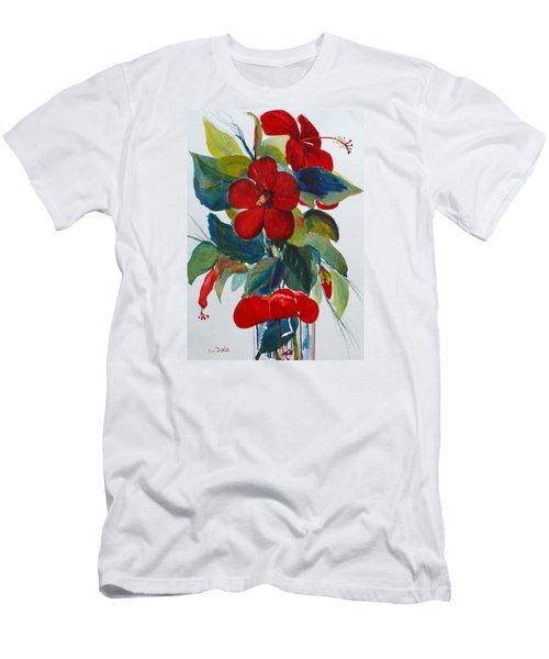 Red Dance Men's T-Shirt (Slim Fit) by Susan Duda
