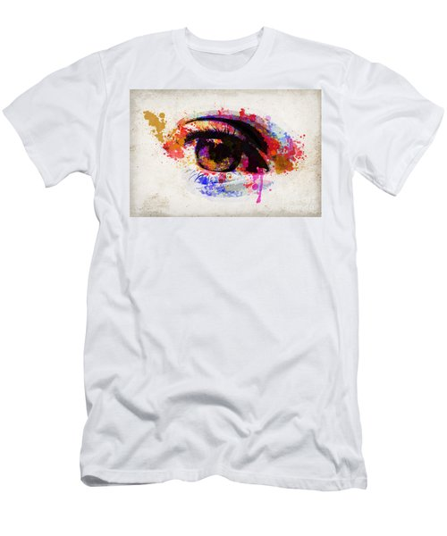 Red Eye Watercolor Men's T-Shirt (Athletic Fit)