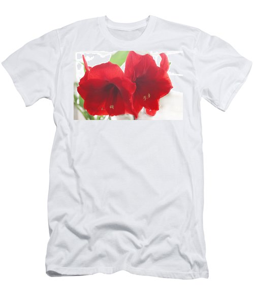 Men's T-Shirt (Slim Fit) featuring the photograph Amaryllis by Rebecca Harman