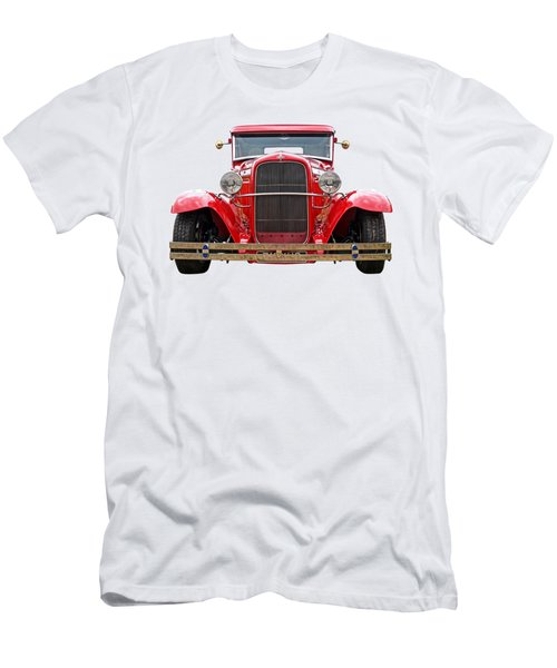 Red Ford Coupe Head On Men's T-Shirt (Athletic Fit)