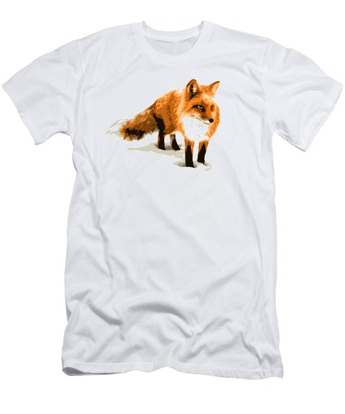 Red Fox In Winter Men's T-Shirt (Athletic Fit)