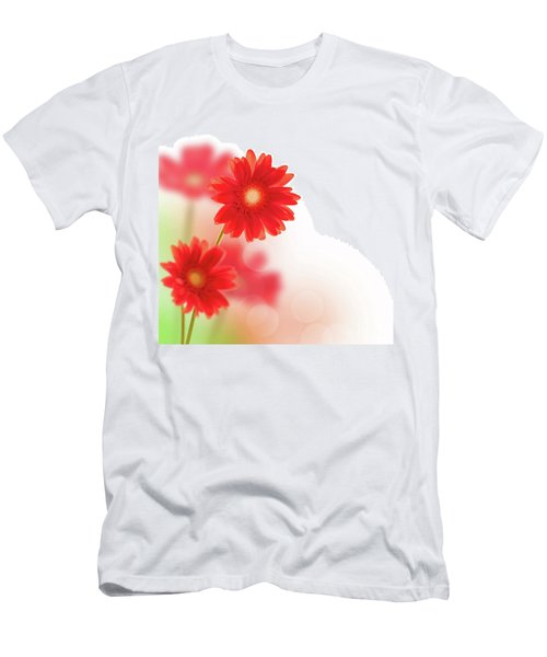 Red Gerbera Men's T-Shirt (Athletic Fit)