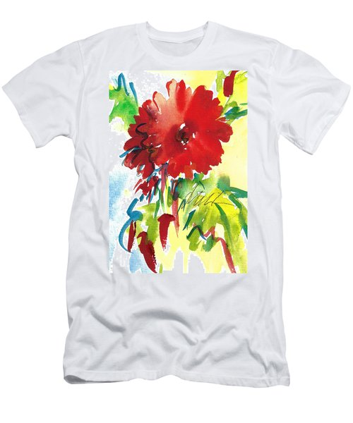 Gerberas Red, White, And Blue Men's T-Shirt (Athletic Fit)