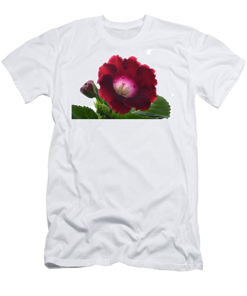 Red Gloxinia. Men's T-Shirt (Slim Fit) by Terence Davis