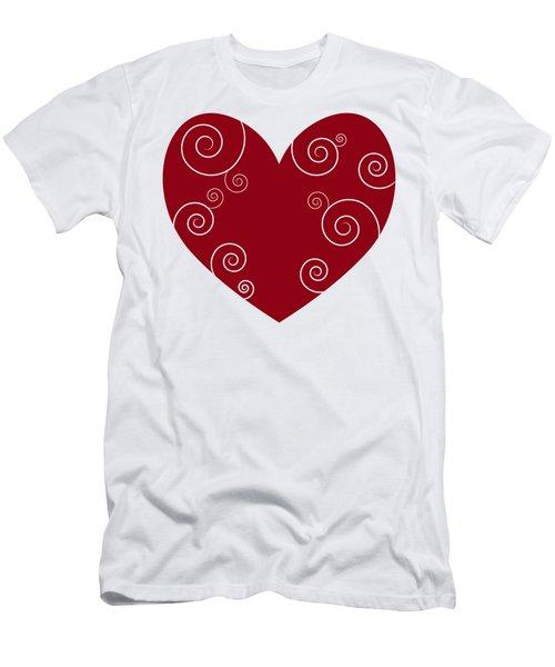 Red Heart Men's T-Shirt (Slim Fit) by Frank Tschakert
