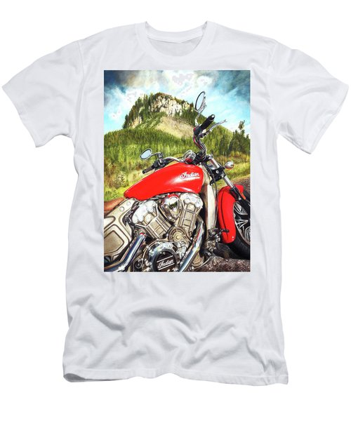 Red Indian Summer Men's T-Shirt (Athletic Fit)