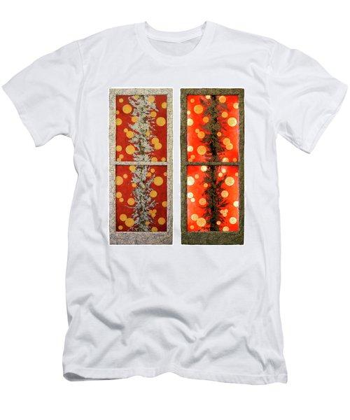 Red Light, White Line Men's T-Shirt (Slim Fit)