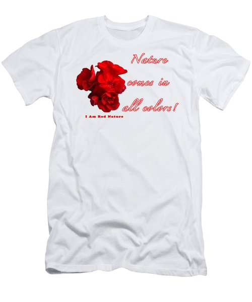 Red Nature Men's T-Shirt (Slim Fit) by Terry Wallace