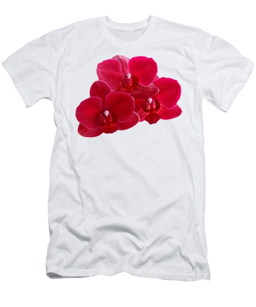 Red Orchid Trio Men's T-Shirt (Athletic Fit)